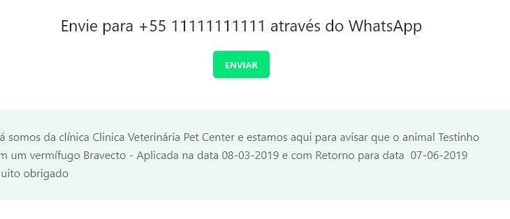 Como enviar lembretes de retornos pelo WhatsApp pelo Nuvem Vet?